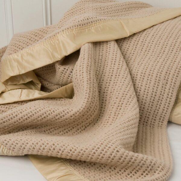 Coffee Cellular Blanket