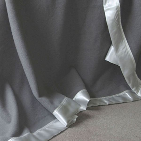 Merino Wool with Pure Silk Satin Trim