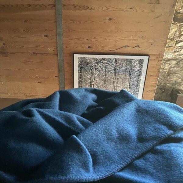 Big Blue wool Blanket