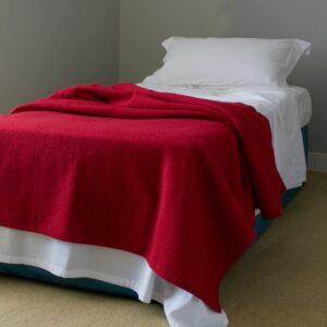 Cerise Red Wool Blanket