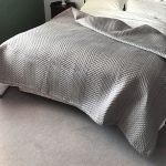 Soft Warm Grey Quilted Bedspread
