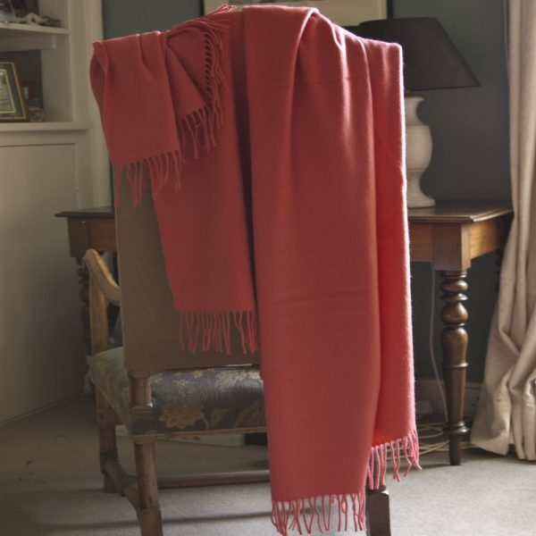 Coral Throw