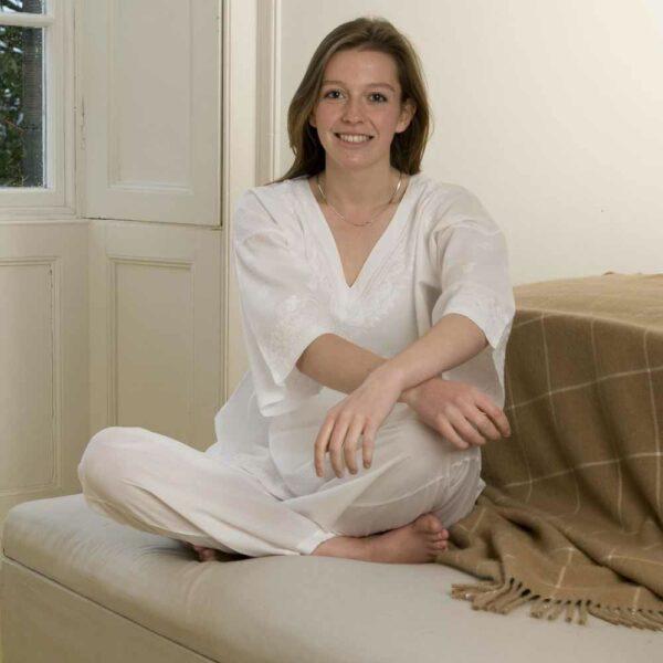 White Cotton Pyjamas