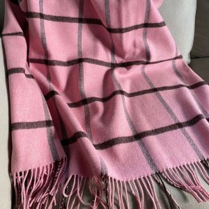 Pink Lambswool Throw