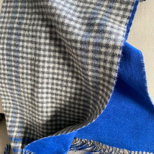 Blues and Greys Cashmere Scarf