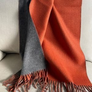 Grey and Deep Burnt Orange